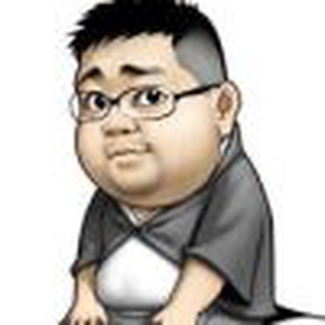 A fat man with glasses